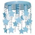 Dětské stropní svítidlo ELZA stars 3xE27/60W/230V modrá