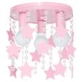 Dětské stropní svítidlo ELZA stars 3xE27/60W/230V růžová