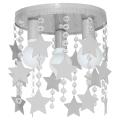 Dětské stropní svítidlo ELZA stars 3xE27/60W/230V šedá