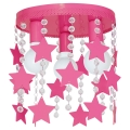 Dětské stropní svítidlo ELZA stars 3xE27/60W/230V tmavě růžová