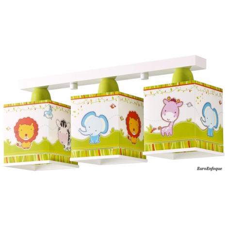 Dětské stropní svítidlo LITTLE ZOO 3xE27/60W