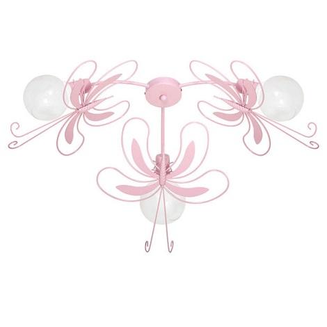 Dětské stropní svítidlo MOTÝL 3xE27/60W růžová