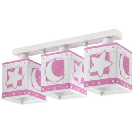 Dětské stropní svítidlo PINK MOON 3xE27/60W