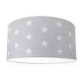 Dětské stropní svítidlo STARS GREY 2xE27/60W/230V šedá