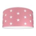 Dětské stropní svítidlo STARS PINK 2xE27/60W/230V růžová