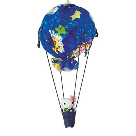 Dětský lustr 1xE27/60W W-BPRQQ modrý