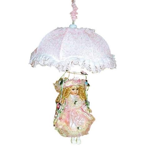 Dětský lustr 1xE27/60W W-LPQQ 001 růžová