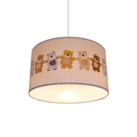 Dětský lustr BEARS 1xE27/60W/230V