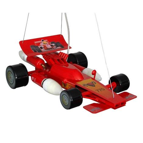 Dětský lustr Formule 4xE14/60W červená