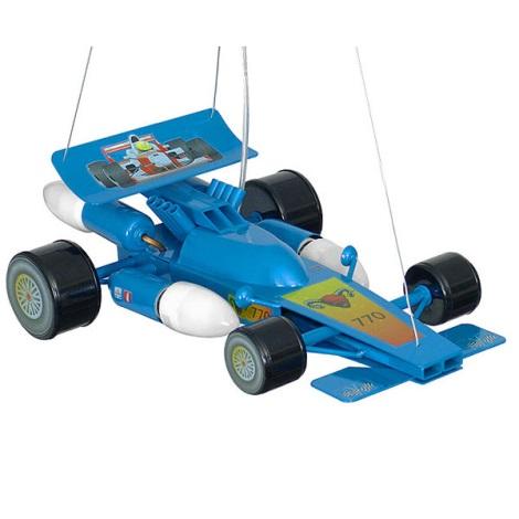 Dětský lustr Formule 4xE14/60W modrá