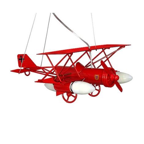 Dětský lustr Letadlo 3xE14/60W červená