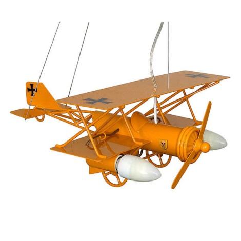 Dětský lustr Letadlo 3xE14/60W žlutá