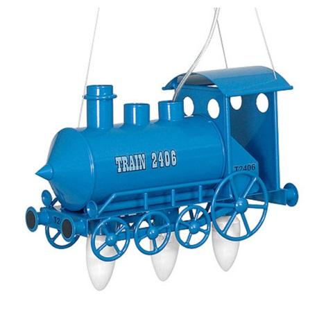 Dětský lustr Lokomotiva 3xE14/60W modrá