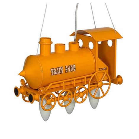 Dětský lustr Lokomotiva 3xE14/60W žlutá
