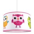 Dětský lustr na lanku OWL 1xE27/60W/230V