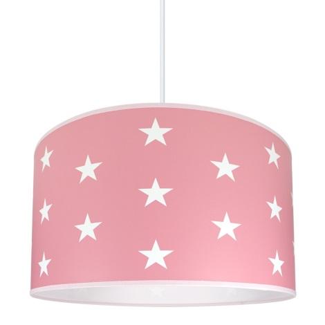 Dětský lustr STARS PINK 1xE27/60W/230V