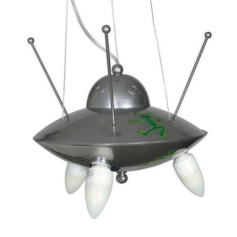 Dětský lustr UFO 3xE14/60W stříbrná