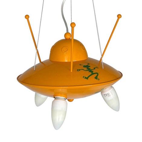 Dětský lustr UFO 3xE14/60W žlutá
