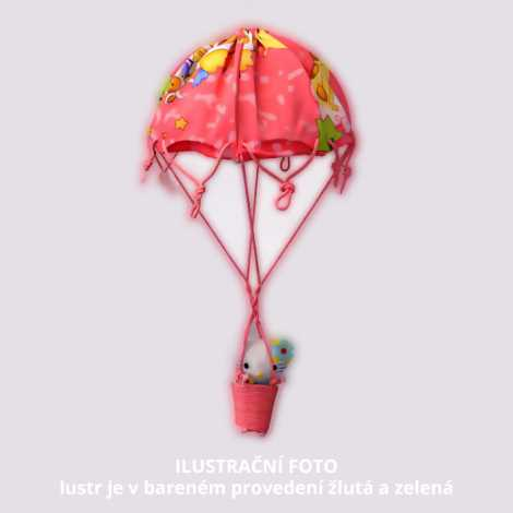 Dětský lustr W-BPRQQ YELLOW-GREEN 1xE27/60W