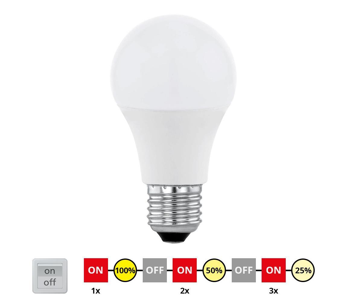 Eglo 11561 - LED Stmívatelná žárovka E27/10W/230V - STEPDIMMING teplá bílá EG11561