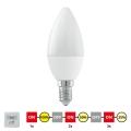 EGLO 11581 - LED Stmívatelná žárovka E14/6W/230V 3000K - STEPDIMMING