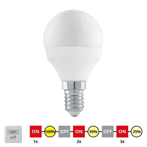 EGLO 11584 - LED Žárovka cyklicky stmívatelná E14/6W/230V - STEPDIMMING neutrální
