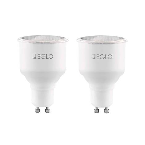 Eglo 12109 - 2x Úsporná žárovka GU10/11W/230V