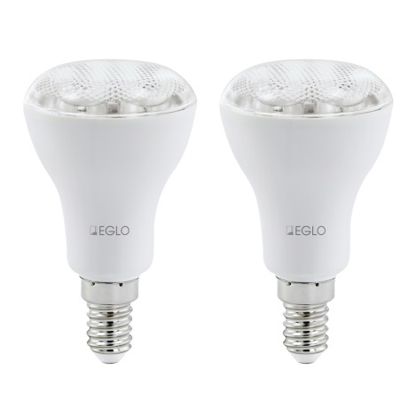 Eglo 12424 - 2x úsporná žárovka E14/7W/230V