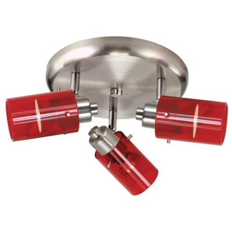 EGLO 22065 - Bodové svítidlo STOMP 1 3xGU10/50W červená