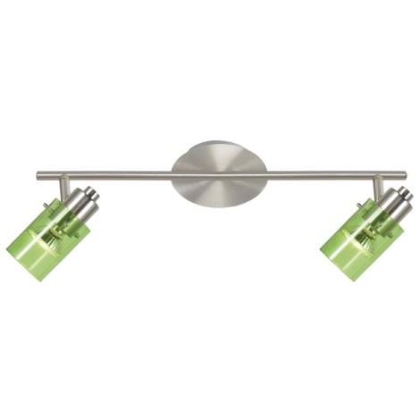 Eglo 22072 - Stropní bodové svítidlo STOMP 1 2xGU10/50W zelená