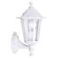 EGLO 22463 - Venkovní nástěnné svítidlo LATERNA 5 1xE27/60W bílá