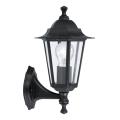 EGLO 22468 - Venkovní nástěnné svítidlo LATERNA 4 1xE27/60W černá