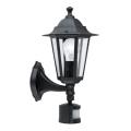 EGLO 22469 - Svítidlo se senzorem LATERNA 4 1xE27/60W černá