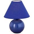 Eglo 23872 - Stolní lampa TINA 1xE14/40W/230V modrá