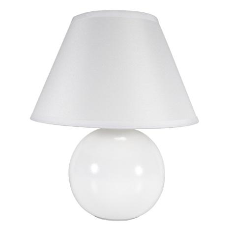 Eglo 23873 - Stolní lampa TINA 1xE14/40W/230V bílá