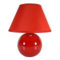 Eglo 23876 - Stolní lampa TINA 1xE14/40W/230V červená