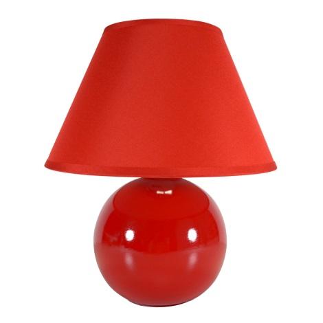 EGLO 23876 - Stolní lampa TINA 1xE14/40W červená