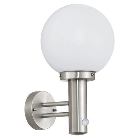 Eglo 27126 - Senzorová lampa pro venkovní prostory NISIA 1xE27/60W/230V