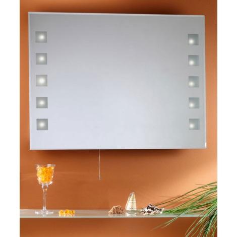 EGLO 27195 - Zrcadlo s osvětlením MIRROR 10xG4/10W