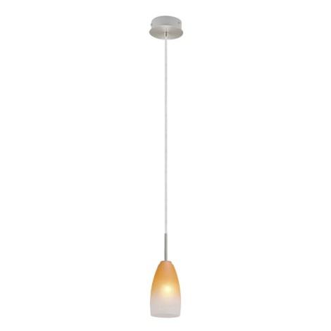 EGLO 27316 - Lustr 27316 1xE14/40W matný chrom / bílá / oranžová
