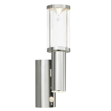 EGLO 27665 - Venkovní nástěnné svítidlo s čidlem TRONO CRYSTAL 2xGU10/50W