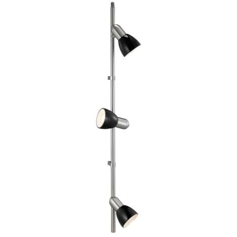 EGLO 27856 - Bodové svítidlo PALMA BLACK 3xE14/40W černá