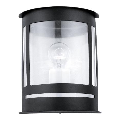 EGLO 30174 - Venkovní nástěnné svítidlo DARIL 1xE27/60W černá