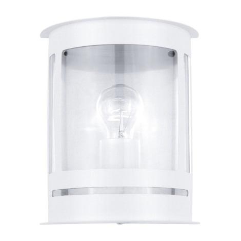 EGLO 30175 - Venkovní nástěnné svítidlo DARIL 1xE27/60W bílá