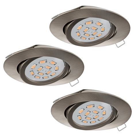 Eglo 31689 - SADA 3x LED Podhledové svítidlo TEDO 3xGU10-LED/5W/230V
