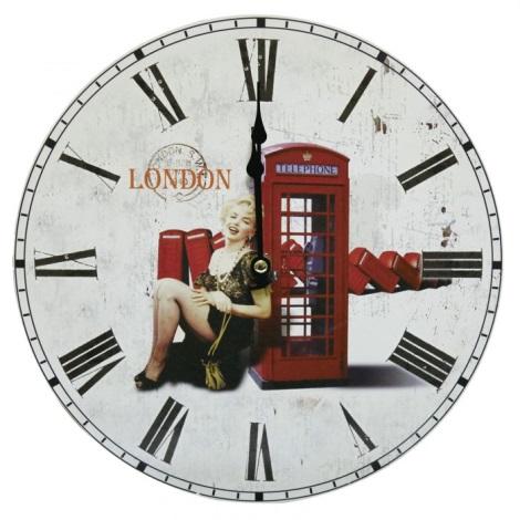 Eglo 41185 - Nástěnné hodiny Telefonní budka