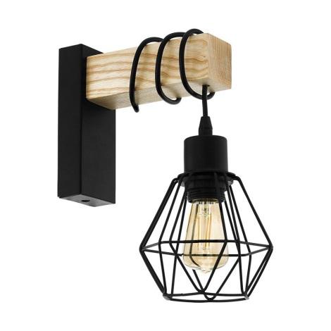 Eglo 43135 - Nástěnné svítidlo TOWNSHEND 1xE27/60W/230V