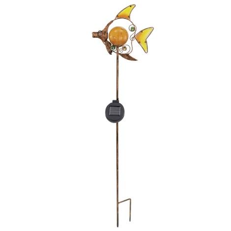 EGLO 47098 - Solární lampa ryba 1xLED/0,015W bronz