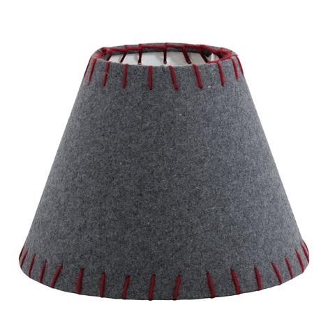 Eglo 49432 - Stínidlo VINTAGE červená vyšívané E14 pr. 20,5 cm