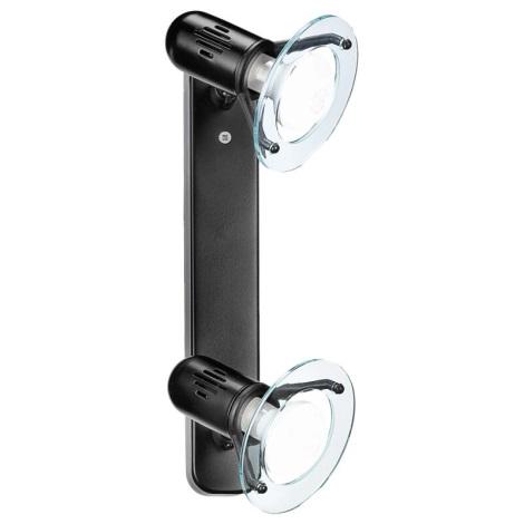 EGLO 6911 - Bodové svítidlo BINGO 2xE14/40W černá